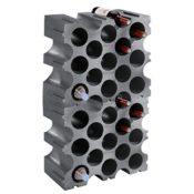 Weinregal / Flaschenregal STONE, Kunststoff, 2er-Set für 30 Flaschen, stabelbar / erweiterbar - H 86 x B 50 x T 26 cm - 1