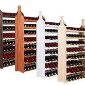 Impag® Weinschrank für 56 Flaschen Modell Flasche Natur