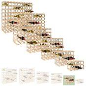 Weinregal TREND für 16 Fl., Holz Kiefer natur, Selbstaufbau, stapelbar / erweiterbar - H 32,4 x B 42 x T 22,8 cm - 1