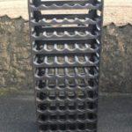 Weinregal für 72 Flaschen braun / Qualität Made in Germany - 1